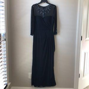 Parr's Navy blue mother of bride formal dress